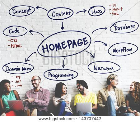 Homepage Computer Digital Internet Technology Concept