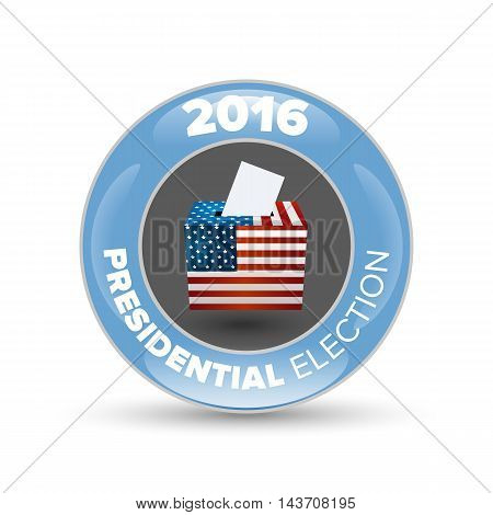 United States Election Vote Badge with shabow on white background