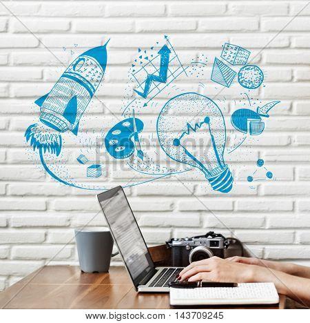 Ideas Inspire Creative Thinking Motivation Concept