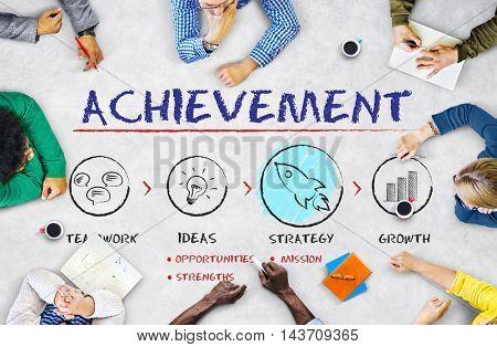 Achievement Business Plan Growth Strategy Concept