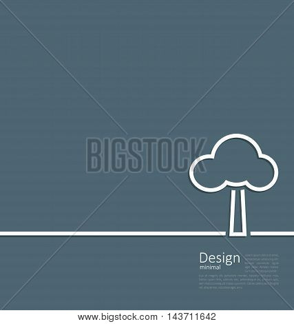 Illustration tree standing alone symbol, logo template corporate style layout - vector