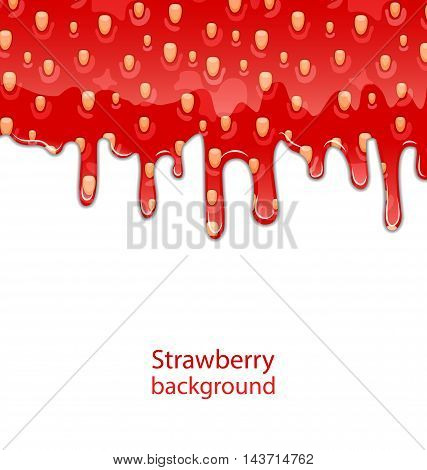 Illustration Texture of Strawberry Jam on White Background - Vector