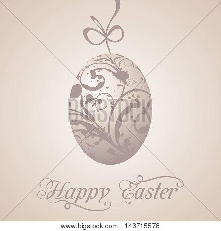 Illustration Easter paschal grunge egg vintage style - vector
