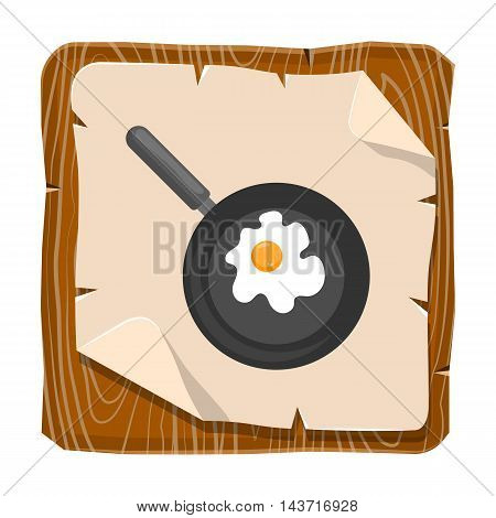 Vector illustration of omelette. Flat designed style icon. Vector