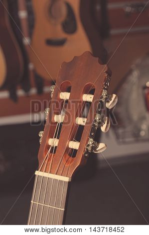 Headstock Of Classical Guitar