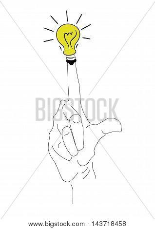 рука, палец ввер