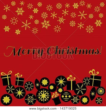 Template for Christmas card invitation backgrounds with space for text.