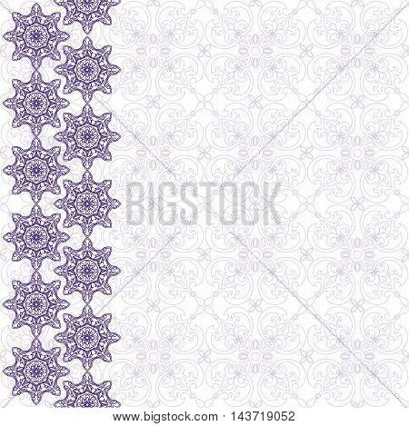 Template for greeting cards invitations with decorative elements mandala.