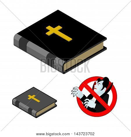 Holy Bible Against Vampires. Ban Dracula. Anti Vampire Tool. Destruction And Extermination Of Ghoul.