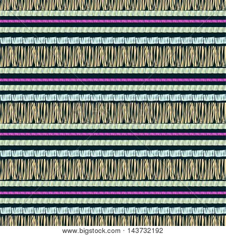 Abstract seamless pattern, stripe ornament. Ethnic vector background. Digital paper