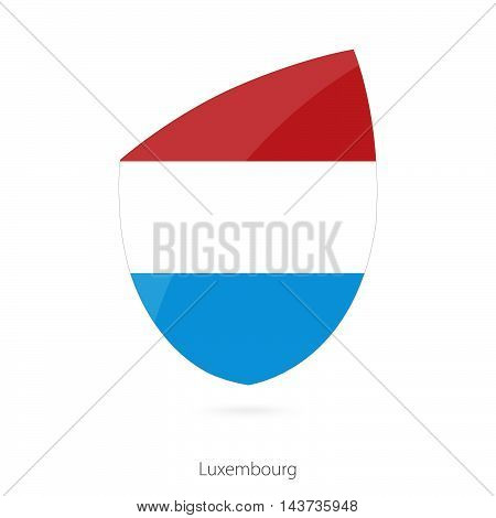 Flag Of Luxembourg In The Style Of Rugby Icon.