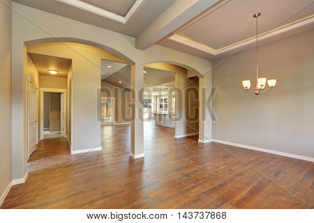 Awesome Entrance Hall Of Brand New House.