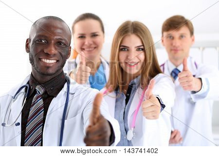 Group Of Medicine Doctor Hands Show Ok