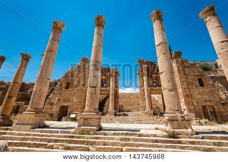 Roman ruins in the Jordanian city of Jerash, (Gerasa of Antiquity), Jordan
