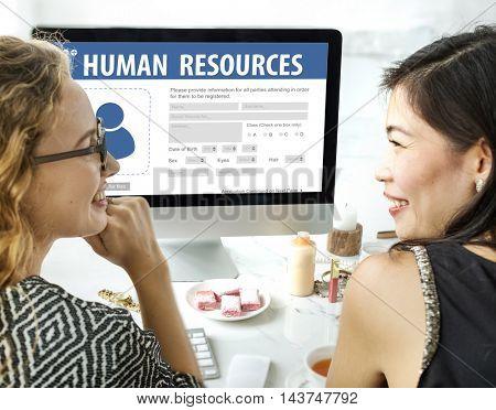 Human Resources Evaluation Recruitment Career Concept
