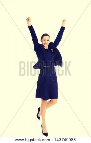 Happy businesswoman