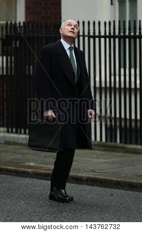 LONDON, UK, FEB 2, 2016: Iain Duncan Smith MP seen arriving at Downing Street for a cabinet meeting