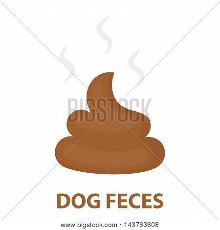 Faeces vector illustration icon in cartoon design