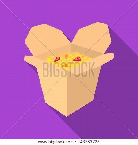 Noodles vector illustration icon in flat design