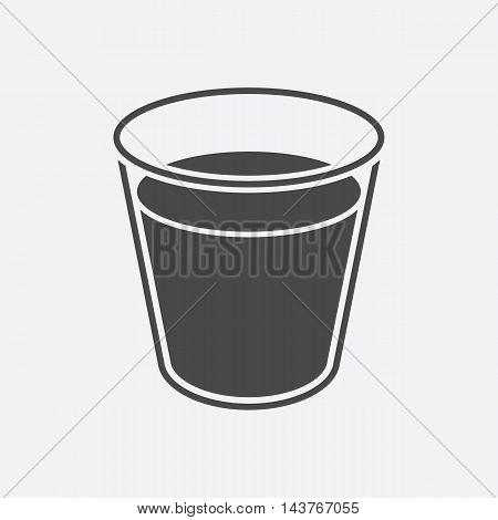 Glass milk icon black. Single bio, eco, organic product icon from the big milk collection.