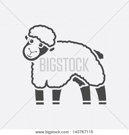 Sheep icon black. Single bio, eco, organic product icon from the big milk collection.