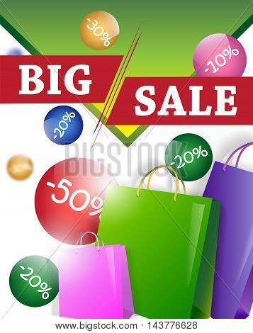 sale design template with shopping bags .