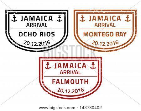 Jamaica Travel Stamps