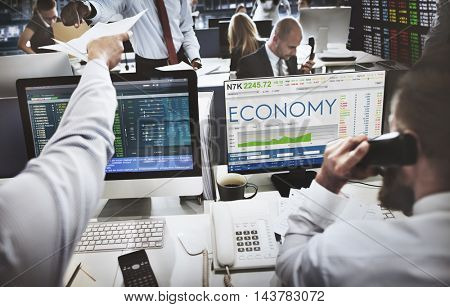 Stock Exchange Trading Forex Finance Graphic Concept