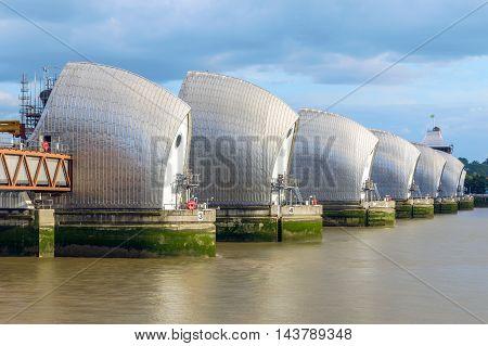 Thames Barrier In London, Uk