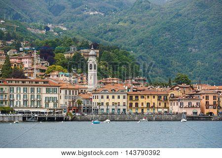 Cityscape of Menaggio on Lake Como Italy