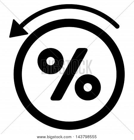 Rebate Percent icon. Vector style is flat iconic symbol with rounded angles, black color, white background.