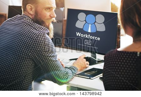 Workforce Team Teamwork Connection Partnership Concept