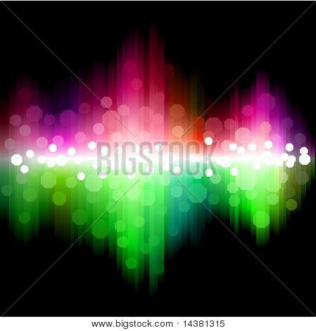 Spectrum rainbow wallpaper. No mesh. No transparency.