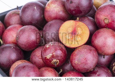 Fruit Fresh Ramontchi On Black Dish