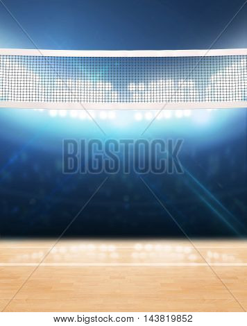 Indoor Floodlit Volleyball Court