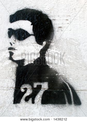 Grafitti Stencil Sunglass Man