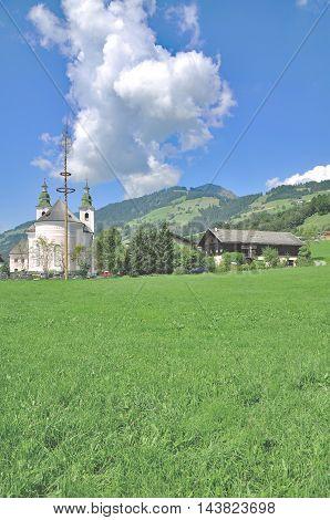 Village of Brixen im Thale near Kitzbuehel in Tirol,Alps,Austria