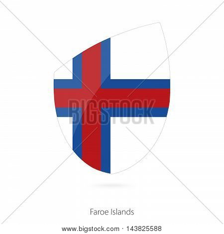 Flag of Faroe Islands in the style of Rugby icon. Vector Illustration.