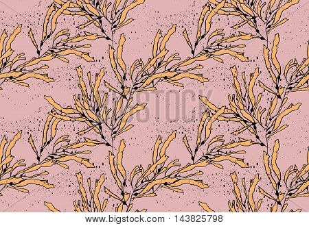 Kelp Seaweed Yellow On Texture