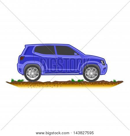 Car Suv Modern Off-road, Sport Utility Colored Crossover