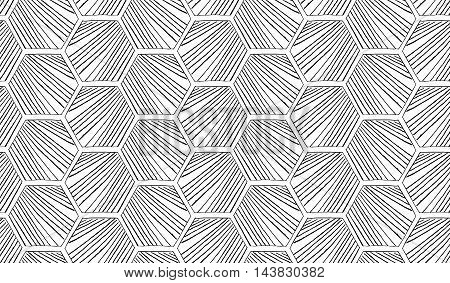Hatched Diagonally Hexagons