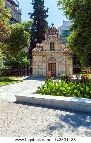 Orthodox church near Monastiraki in Athens Greece