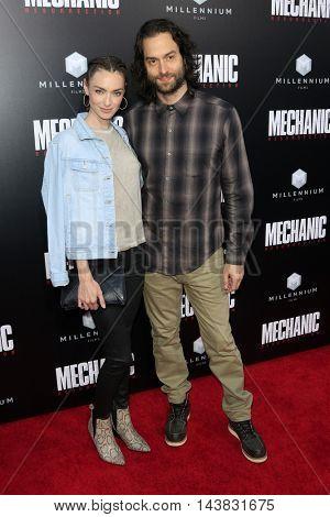 LOS ANGELES - AUG 22:  Cassi Colvin, Chris D'Elia at the