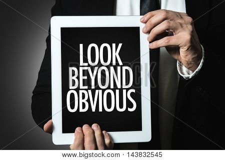 Look Beyond Obvious