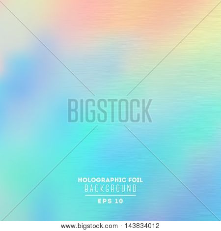 Holographic foil vector illustration