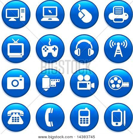 Original vector illustration: technology and communication design elements