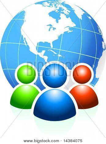 Globale Kommunikation ursprünglichen Vector Illustration Ideal für Internet-Konzepte