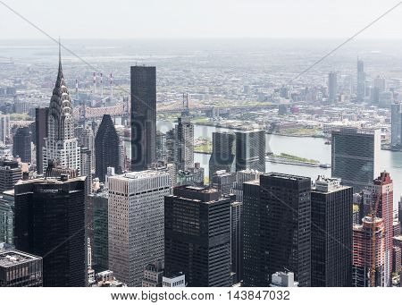 New York Cityscape Birds Eye View