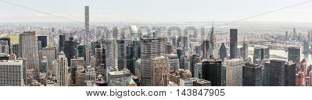 New York City Streets And Skyscrapers Panorama