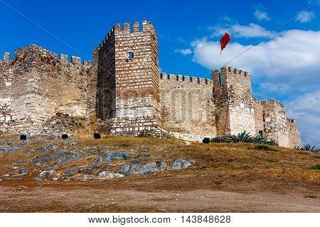 Selcuk Castle ramparts, Ayasoluk hill in Turkey